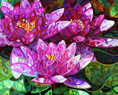 Dark Abstract Painting - Triumvirate by Mandy Budan