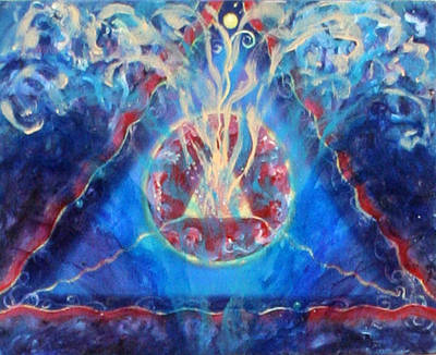 Metaphysical Painting - Trnity Detail From Sea Of The Soul by Anne Cameron Cutri