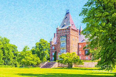 Sweden Digital Art - Trollenas Castle Digital Oil Painting by Antony McAulay