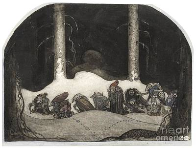 Trolls Print by John Bauer