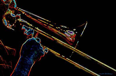 Trombone Digital Art - Trombone by Bill