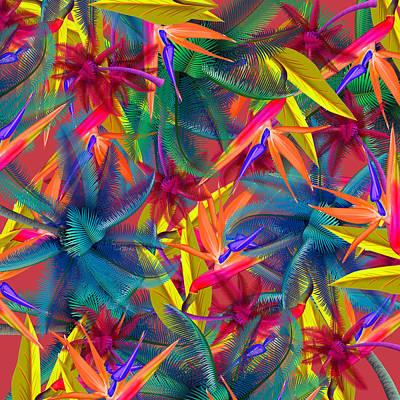 Flamingos Painting - Tropical  7 by Mark Ashkenazi