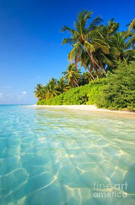 Getty Photograph - Tropical Beach - Maldives by Matteo Colombo