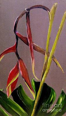 Heliconia Painting - Tropical Beauty by Carol Sweetwood