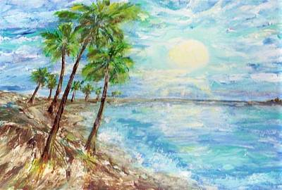 Painting - Tropical Blue by Mary Sedici