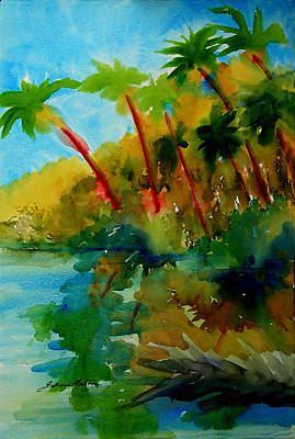 Painting - Tropical Canal by Julianne Felton