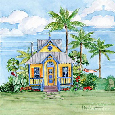 Peaches Painting - Tropical Cottage II by Paul Brent