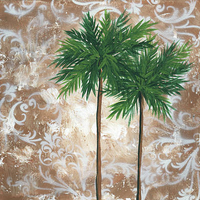 Palm Trees Painting - Tropical Dance 4 By Madart by Megan Duncanson