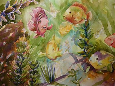 Painting - Tropical Fish 4 by Julianne Felton
