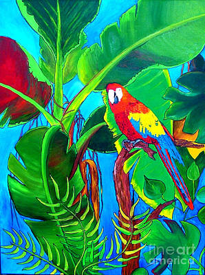 Lif Painting - Tropical Flame by Inna Montano