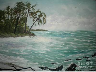 An Island Painting - Tropical Island by Hal Newhouser