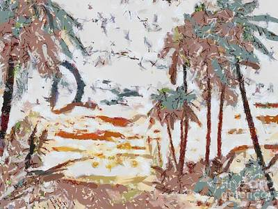 Tropical Scene Fragmented Print by Catherine Lott