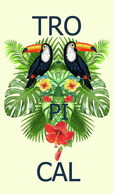 Tropical Summer  Print by Mark Ashkenazi