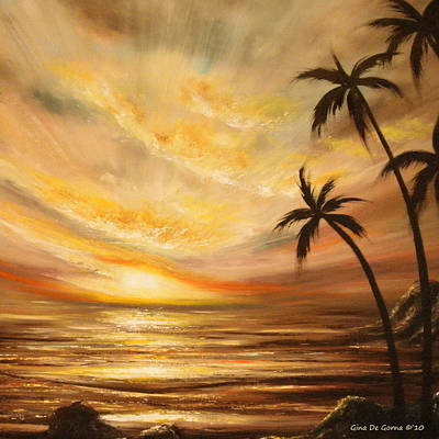 Tropical Sunset 64 Print by Gina De Gorna