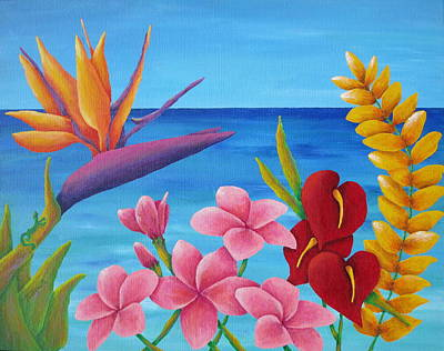 Gecko Painting - Tropical View by Pamela Allegretto