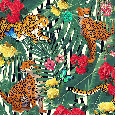 Tropical Wild  Print by Mark Ashkenazi