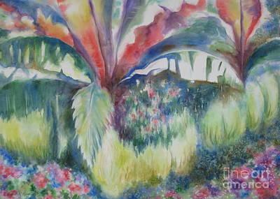 Banana Tree Painting - Tropicana by Deborah Ronglien