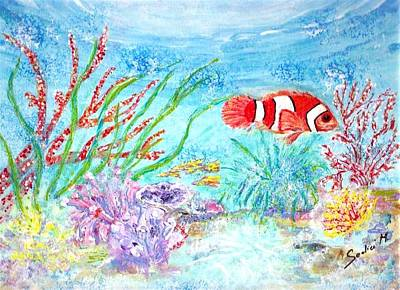 Tropical Fish Painting - Tropicana  by Mary Sedici