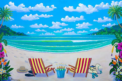 Banana Tree Painting - Tropics For Two by Frank Strasser