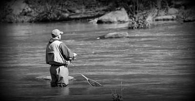 Trout Fishing 1 Print by Todd Hostetter