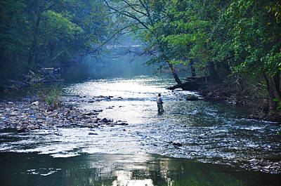 Wissahickon Creek Photograph - Trout Fishing In America by Bill Cannon