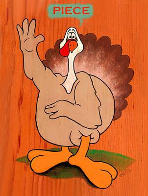 Troy Turkey Piece Print by David Wiles