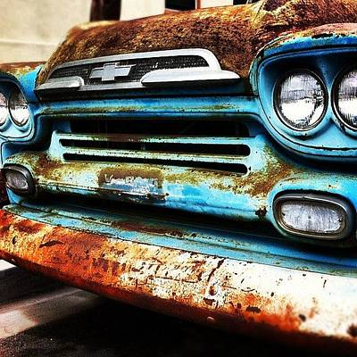 Truck Photograph - #truck #chevy #old #rust #rusty by Daniel Corson
