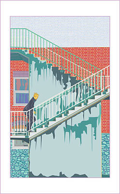 Trudge Print by John Groves