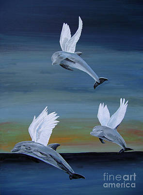 Acrylic On Canvas Painting - True Angels by Eric Kempson