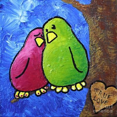 Limbbirds Painting - True Love Heart by LimbBirds Whimsical Birds