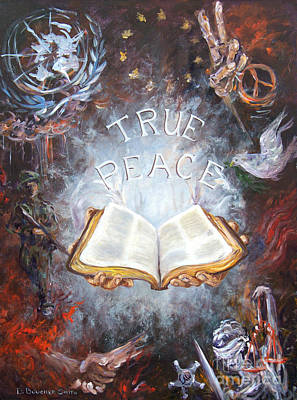 Composite Painting - True Peace by Deborah Smith