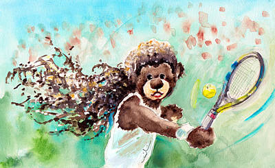 Tennis Drawing - Truffle Mcfurry Had A Dream by Miki De Goodaboom
