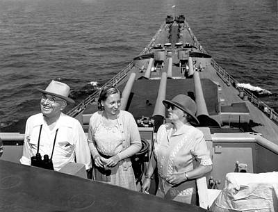 Truman Family At Sea Print by Underwood Archives