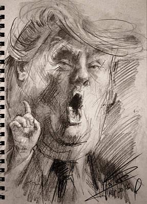 Trump A Dengerous A-hole Print by Ylli Haruni