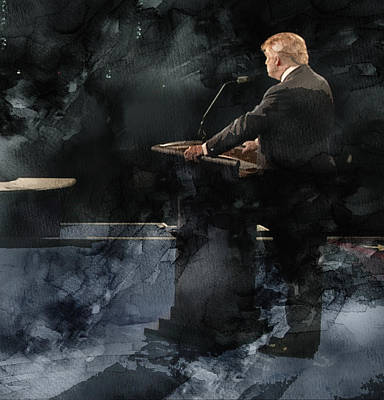 Hillary Clinton Drawing - Trump Vs Clinton 4 by Jani Heinonen