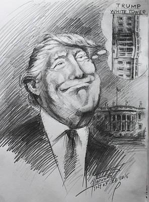 Trump White Tower  Print by Ylli Haruni