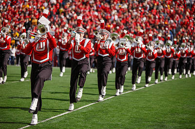 Marching Band Photograph - Trumpet Line by Todd Klassy