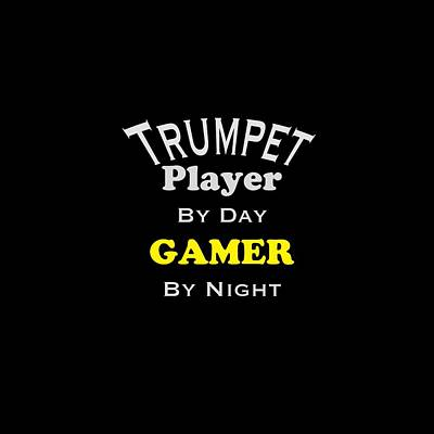 Jazz Photograph - Trumpet Player By Day Gamer By Night 5629.02 by M K  Miller