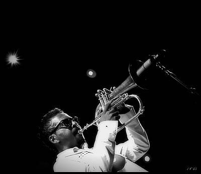 Live Jazz Quartet Photograph - Trumpeter Roy Hargrove  by Jean Francois Gil