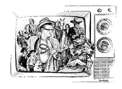 Truth Justice And The American Way Print by Joseph Juvenal