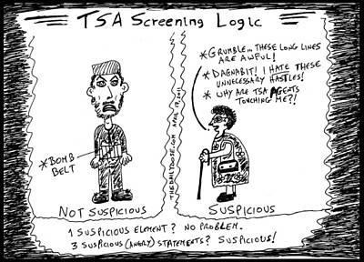 Jihadi Drawing - Tsa Follies by Yasha Harari