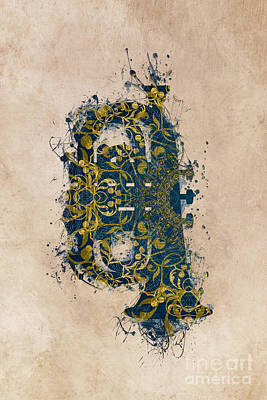Music Digital Art - Tuba by Justyna JBJart