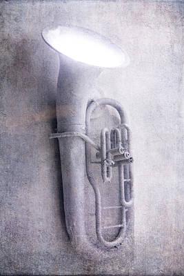 Beaten Up Photograph - Tuba Light by Garry Gay