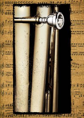 Antique Photograph - Tuba Mouthpiece by Patrick Chuprina