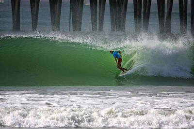 California Surfing Photograph - Tube Ride by Larry Marshall