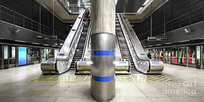 Ceramic Mixed Media - Tube Station by Svetlana Sewell