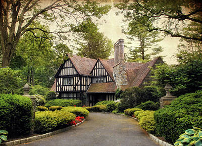 House Digital Art - Tudor Home by Jessica Jenney