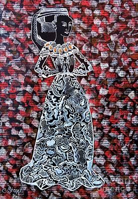Tudor Woman Original by Caroline Street