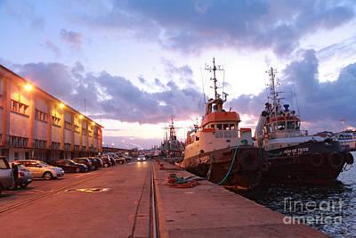 Tug Boats Print by Gaspar Avila