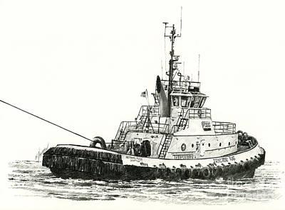 Tugboat Arthur Foss Print by James Williamson